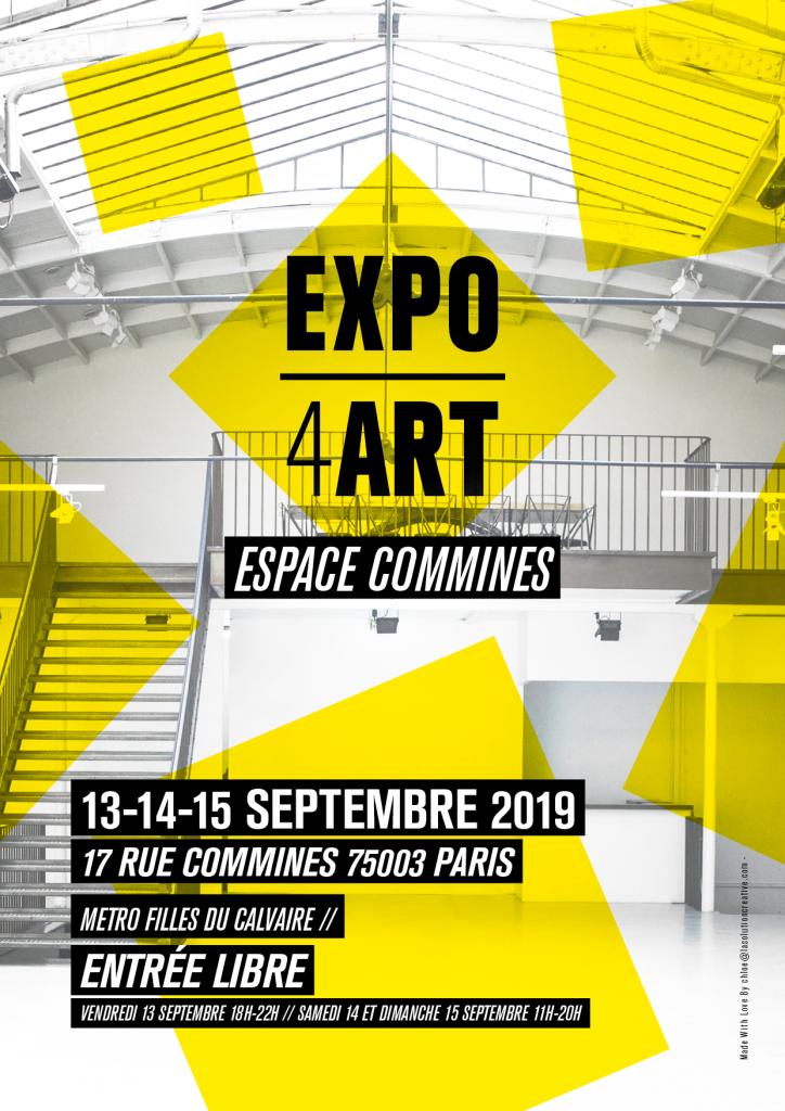 Expo4Art-Commines-sept2019-affiche